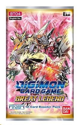 Boite de Digimon Card Game  BT04 - Booster Great Legend