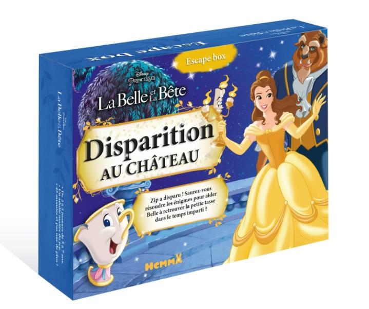 Boite de Escape Box Disney : La Belle et la Bête, Disparition au château