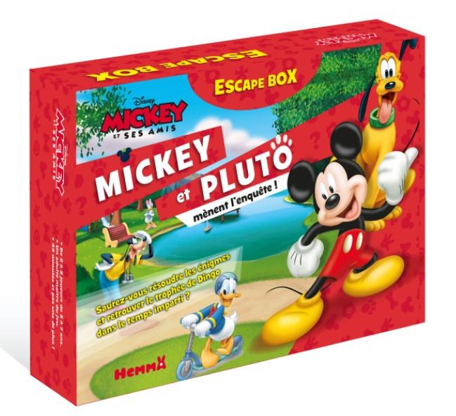 Boite de Escape Box Disney : Mickey et Pluto mènent l'enquête !