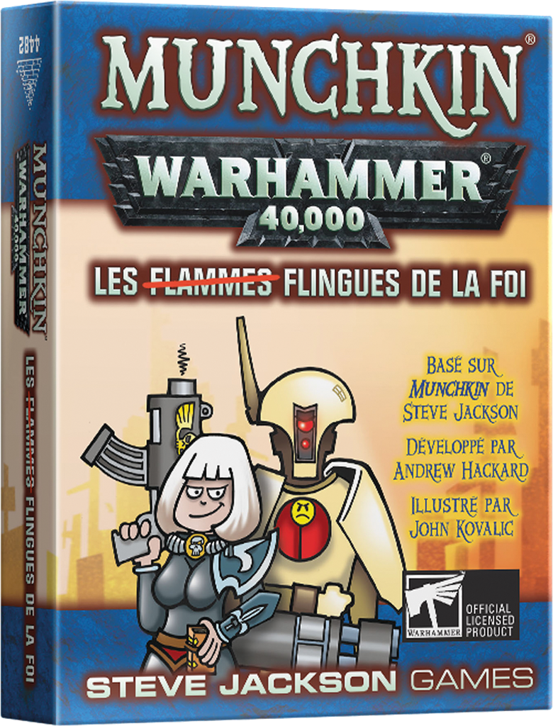 Boite de Munchkin Warhammer 40.000 : Les Flingues de la Foi