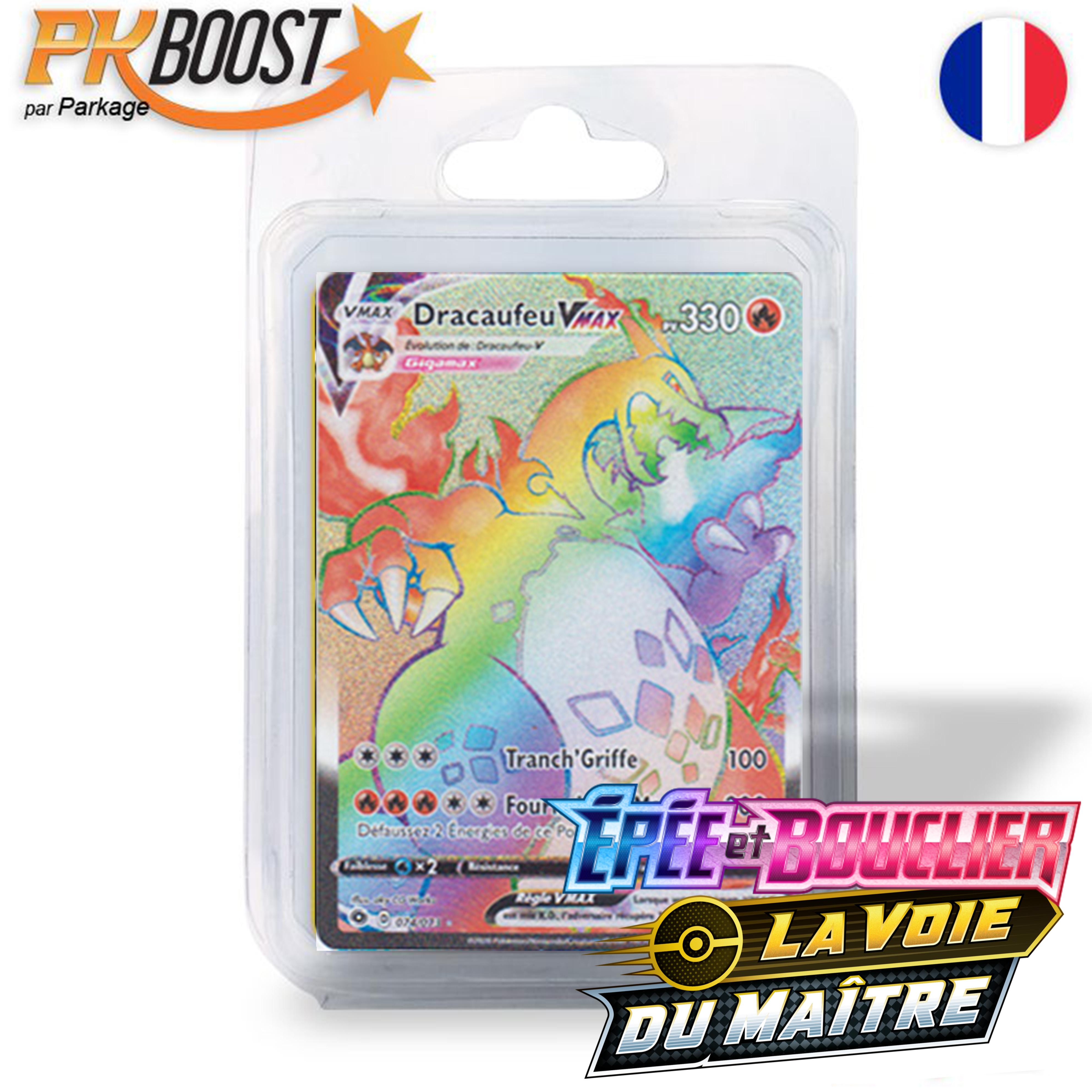Boite de Coffret PKBoost Super Rare : Dracaufeu-Vmax EB03.5 Épée et Bouclier La Voie du Maître 330 PV 074/073