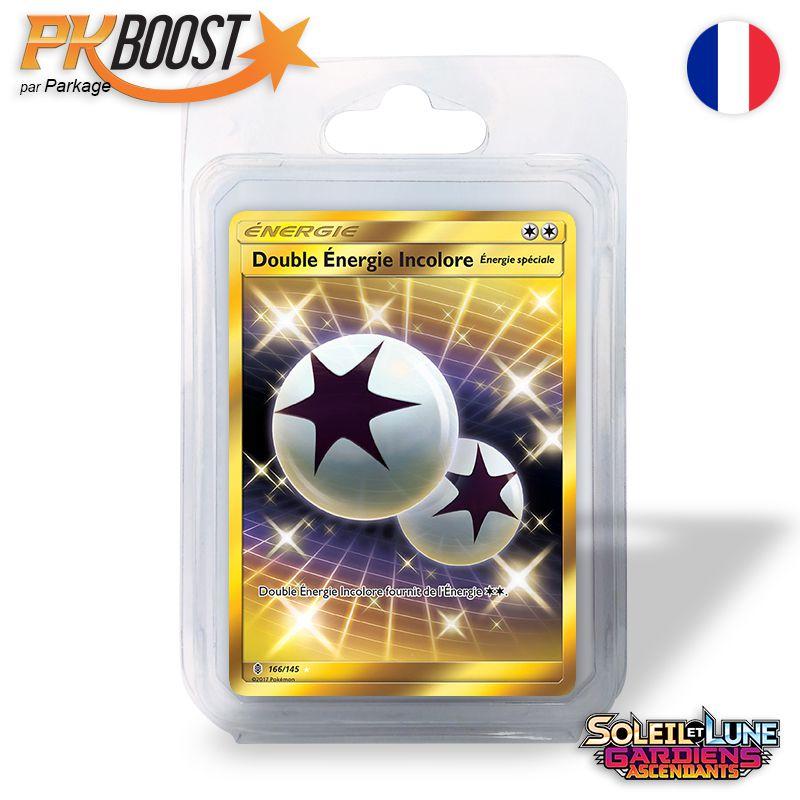 Boite de Coffret PKBoost Secret Rare : Double Énergie Incolore SL2 Gardiens Ascendants 166/145