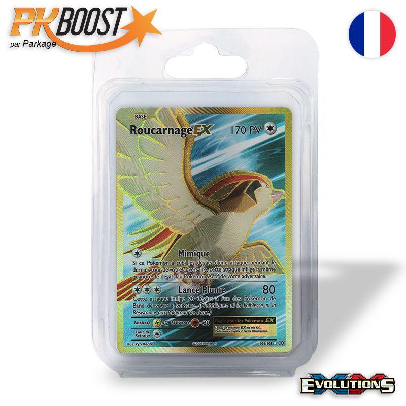 Boite de Coffret PKBoost Ultra Rare : Roucarnage EX XY12 Évolutions 170 PV 104/108